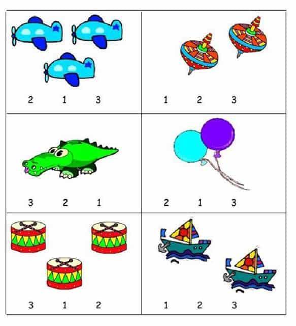 Bài tập chọn số phù hợp với hình vẽ