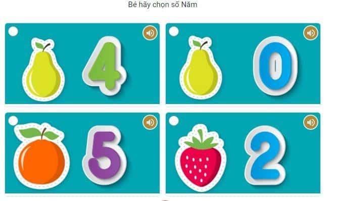 Bài tập chọn số trong hình