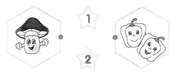 Bài tập đánh dấu vào ô có số lượng cho trước, nối hình-1