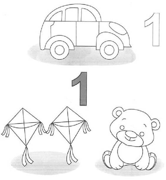 Bài tập đếm và gọi tên các đồ chơi