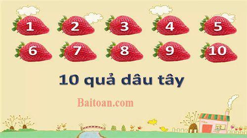 Dạy bé đếm 10 quả dâu tây