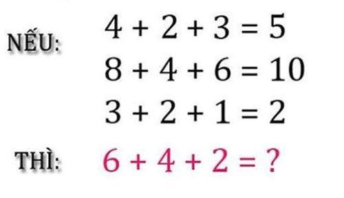 Thử sức với bài toán 6 + 4 + 2