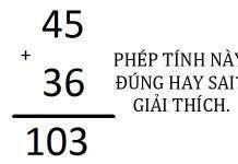 45+36=103: Bài toán này đúng hay sai?