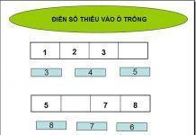 Điền số còn thiếu vào ô trống - Bài toán cho trẻ 5 tuổi
