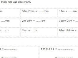 15 bài tập toán ôn hè lớp 2 lên lớp 3