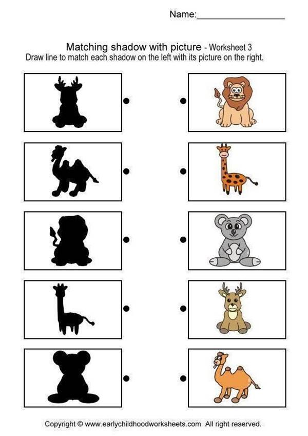 Bài tập nối hình với bóng cho các bé-1