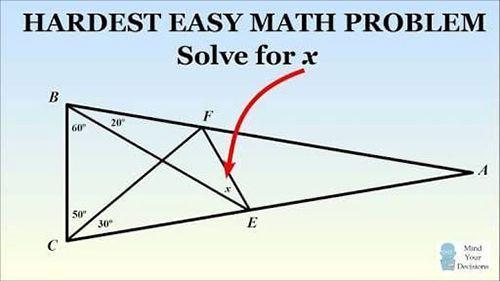 Bài toán tính góc hình tam giác nhỏ trong tam giác lớn