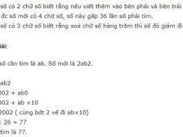 Bài toán tìm số có 2 chữ số, 3 chữ số - Toán lớp 5
