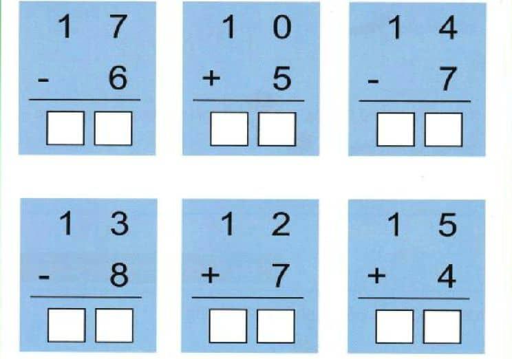 Bài toán điền chữ số chính xác vào ô vuông - Toán lớp 1