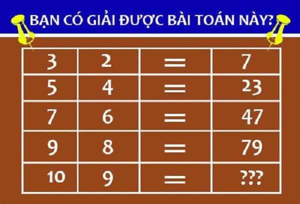 Bài toán kiểm tra IQ cho học sinh lớp 5
