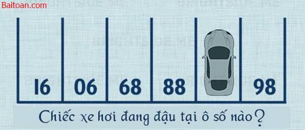 Bài toán tìm số vị trí của chiếc xe hơi