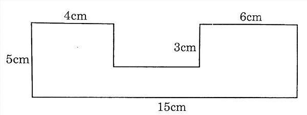 Bài toán tính diện tích miếng bìa