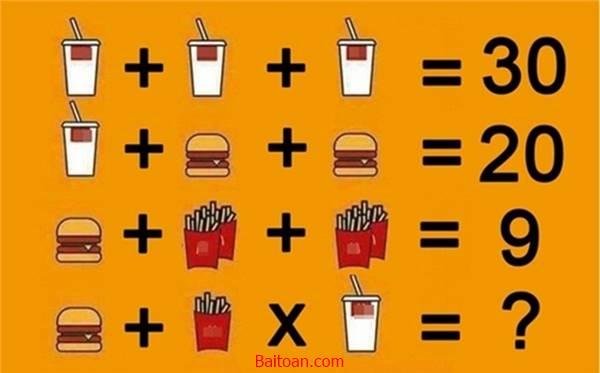Bài toán trắc nghiệm IQ khó