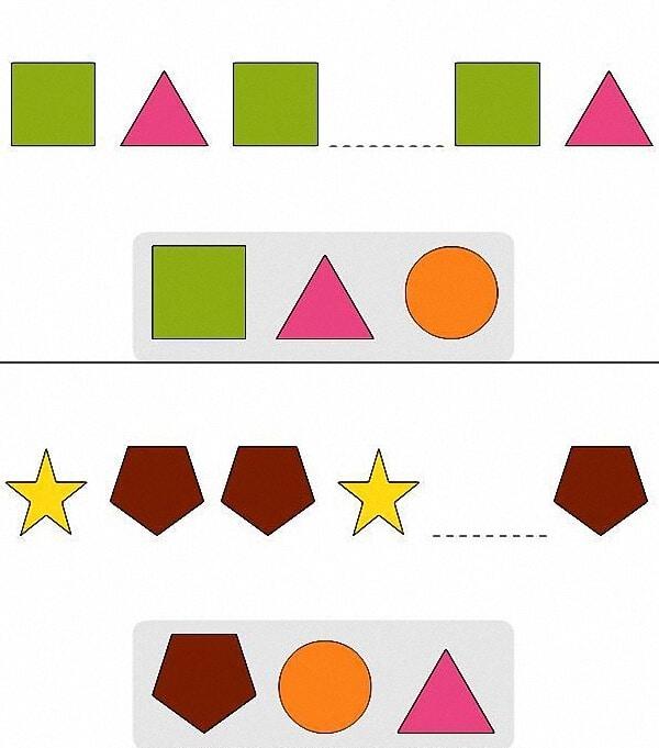 Bài toán nhận biết các hình dành cho bé 5 tuổi-1