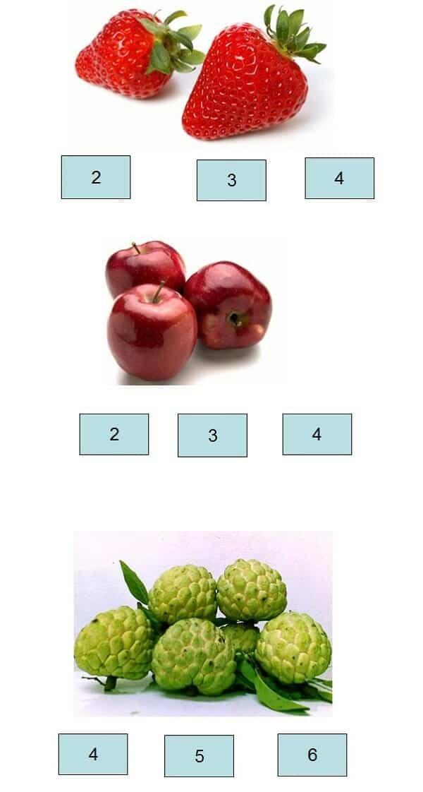 Một số bài toán chọn số đúng cho trẻ 5 tuổi