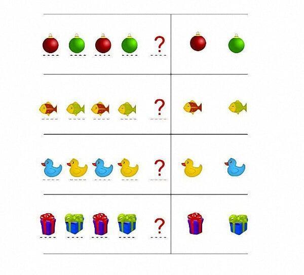 Vài bài toán nhận biết hình dạng, màu sắc cho trẻ 5 tuổi-1