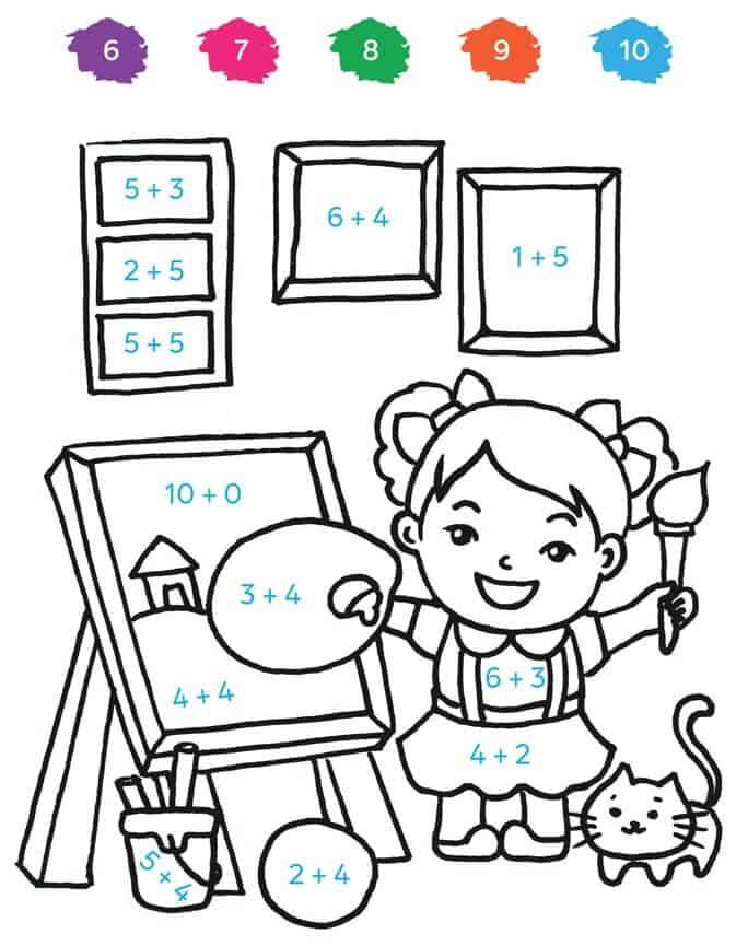Bài tập cộng trong phạm vi 10 cho trẻ 5-6 tuổi bằng hình ảnh-5