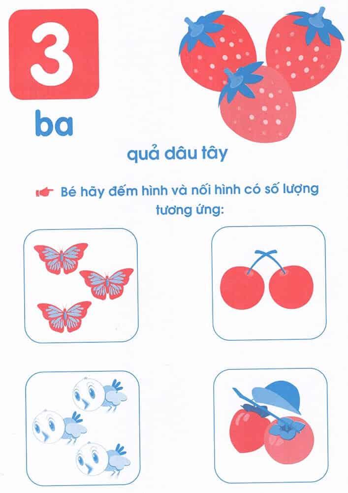 Bài tập dạy trẻ mầm non nhận biết các số 1, 2, 3, 4, 5-4