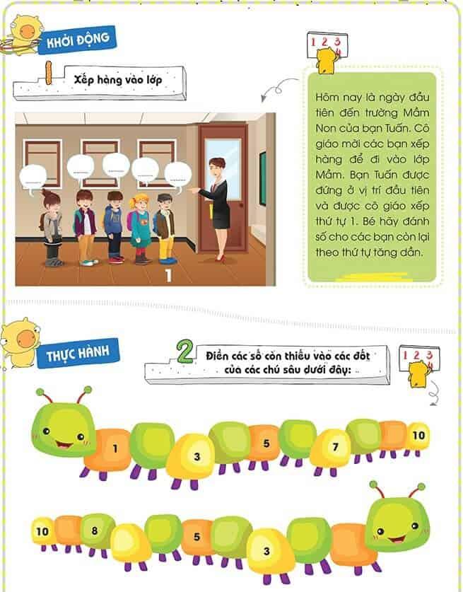 Một số bài tập phát triển tư duy cho trẻ 4-6 tuổi