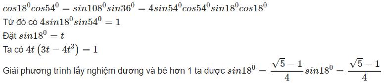 Bài toán tìm Sin18 độ bằng nhiều cách-1