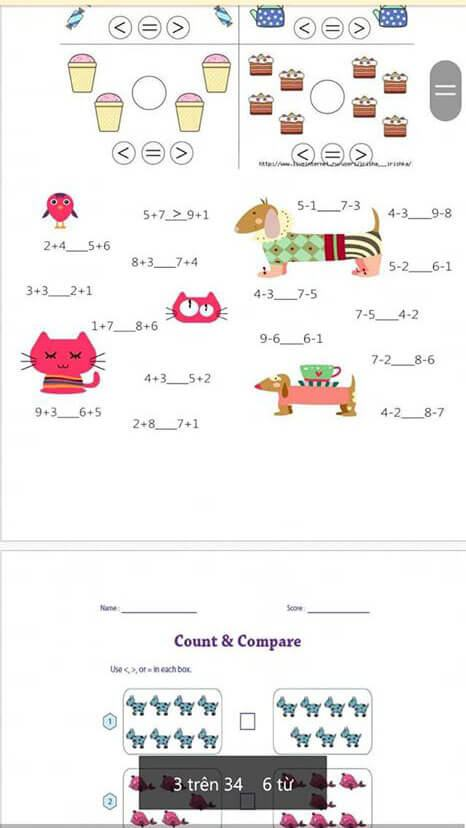 Tranh tô màu toán tư duy cho trẻ 5 tuổi-10