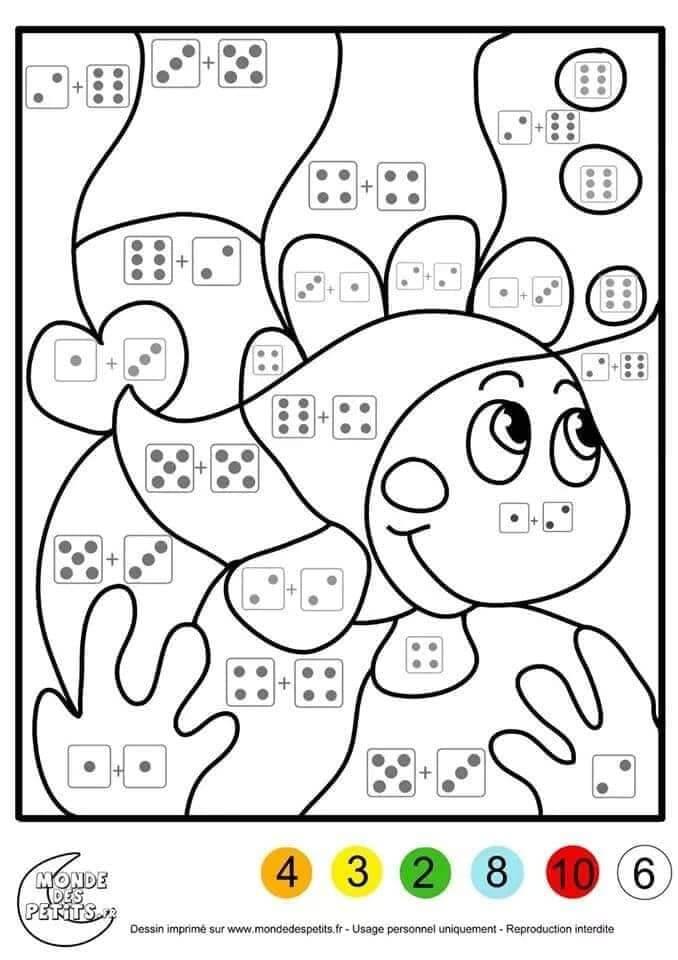 Tranh tô màu toán tư duy cho trẻ 5 tuổi-1