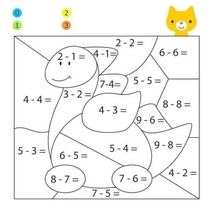 Tranh tô màu toán tư duy cho trẻ 5 tuổi-3
