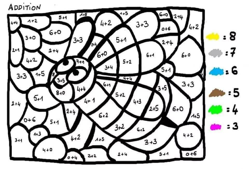 Tranh tô màu toán tư duy cho trẻ 5 tuổi-6