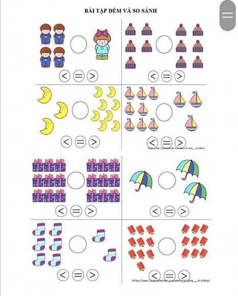 Tranh tô màu toán tư duy cho trẻ 5 tuổi-7