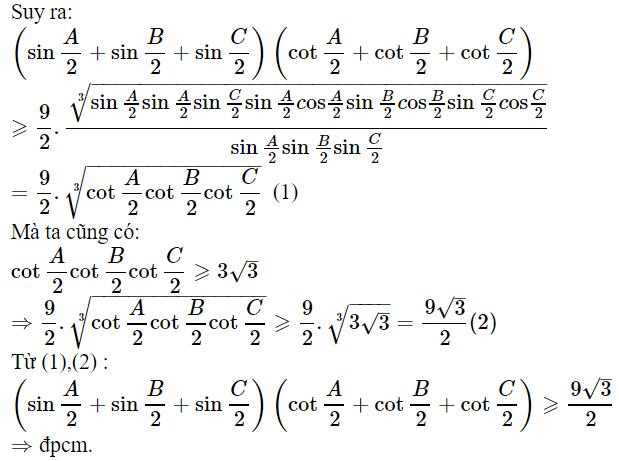 Một số bài toán chứng minh BĐT lượng giác có lời giải-1