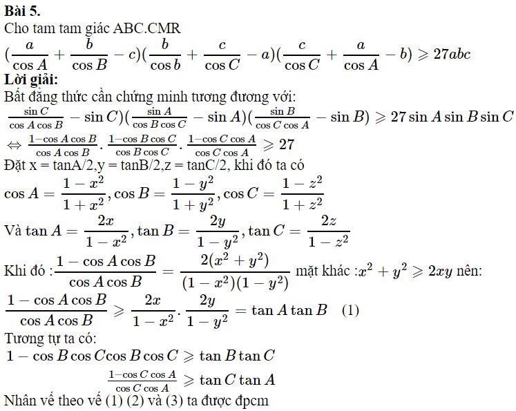 Một số bài toán chứng minh BĐT lượng giác có lời giải-4