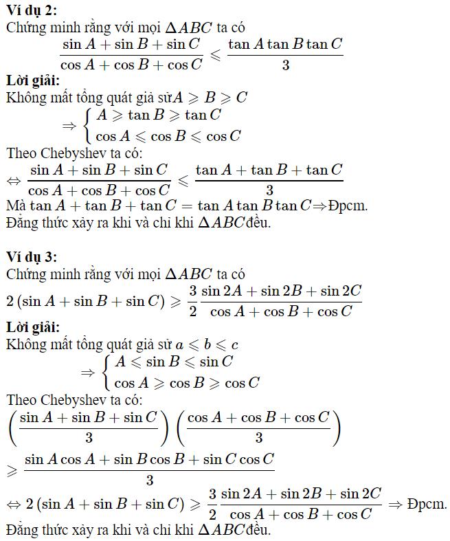 Sử dụng BĐT Chebyshev để chứng minh BĐT lượng giác-1