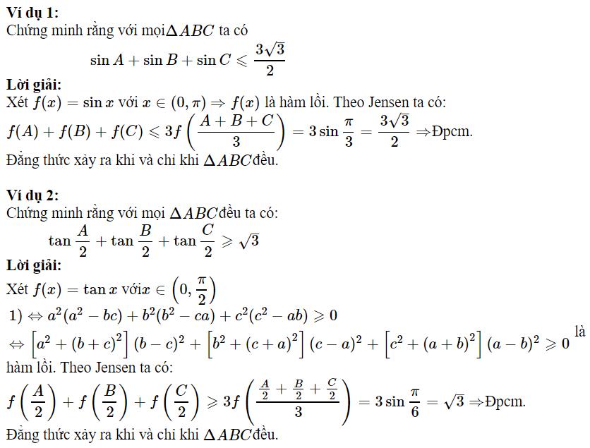 Sử dụng BĐT Jensen để chứng minh BĐT lượng giác-1