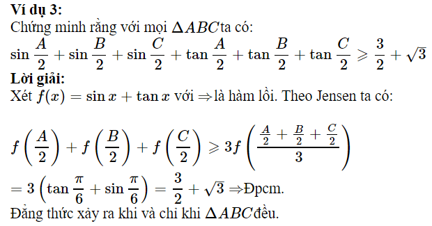 Sử dụng BĐT Jensen để chứng minh BĐT lượng giác-2