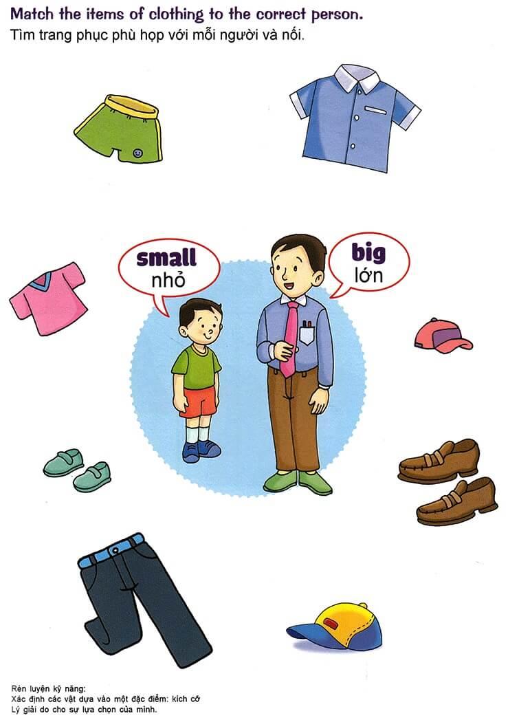 Nhận biết giống nhau, khác nhau, lớn nhỏ, cao thấp cho trẻ 3-5 tuổi-3