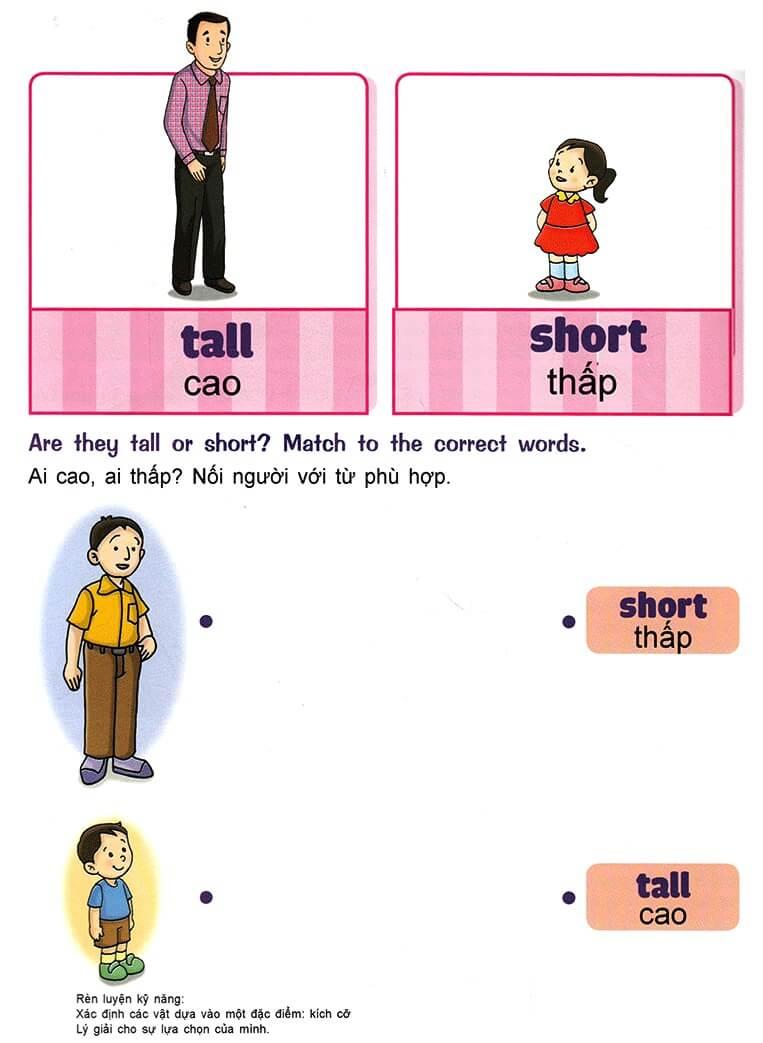 Nhận biết giống nhau, khác nhau, lớn nhỏ, cao thấp cho trẻ 3-5 tuổi-6