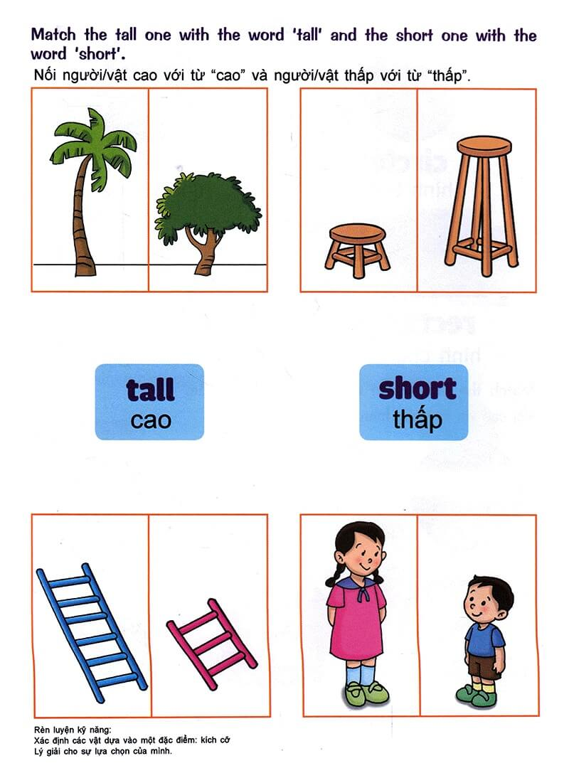 Nhận biết giống nhau, khác nhau, lớn nhỏ, cao thấp cho trẻ 3-5 tuổi-7