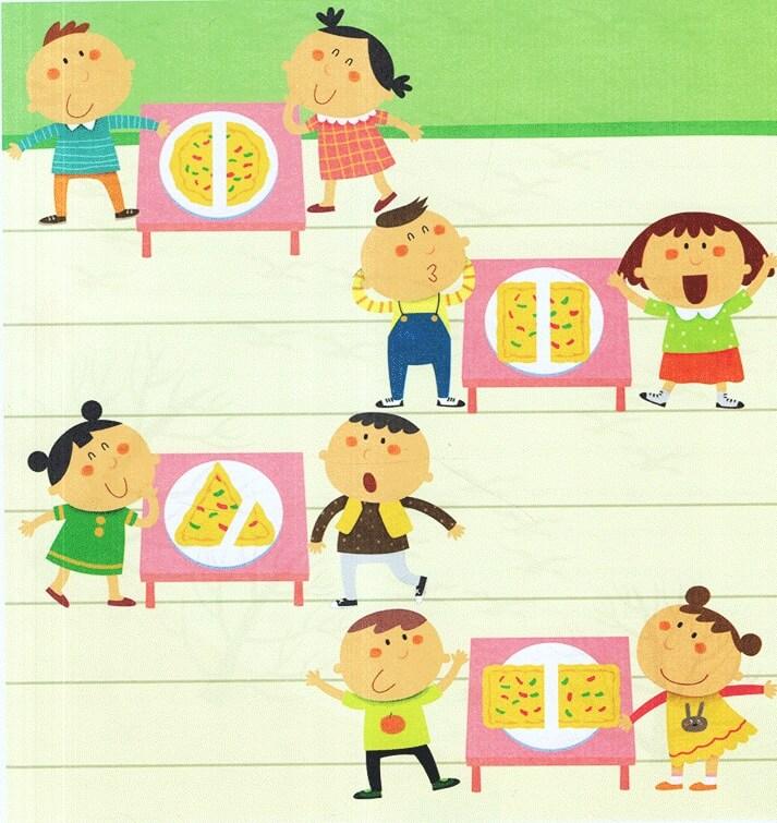 Bài tập chia bánh dành cho bé 4-5 tuổi