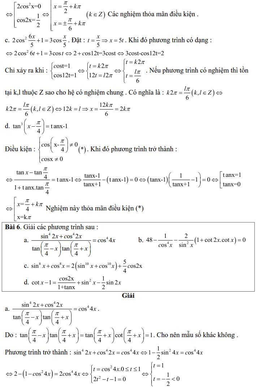 Bài tập phương trình bậc nhất, bậc hai đối với một hàm số lượng giác có lời giải-6