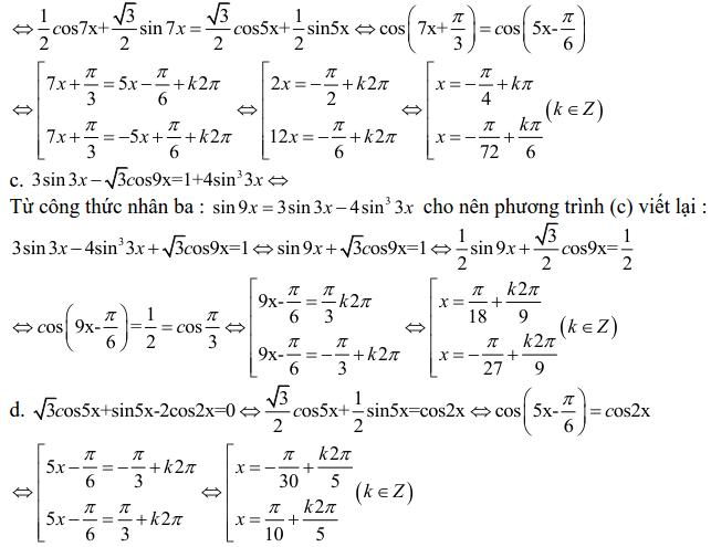 Bài tập phương trình bậc nhất đối với sinX và cosX có lời giải-3