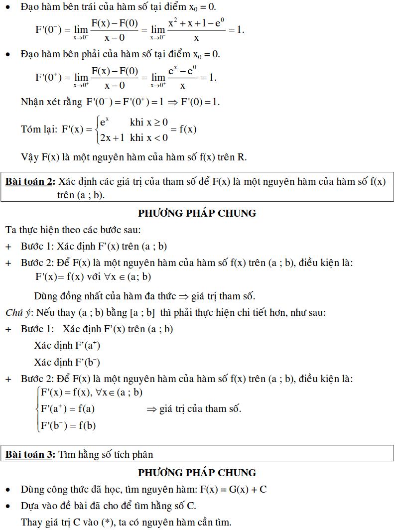 Bài toán xác định nguyên hàm bằng định nghĩa-1