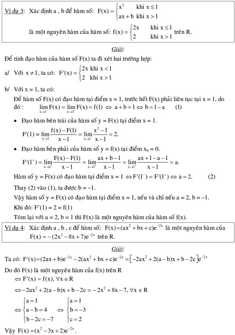Bài toán xác định nguyên hàm bằng định nghĩa-2