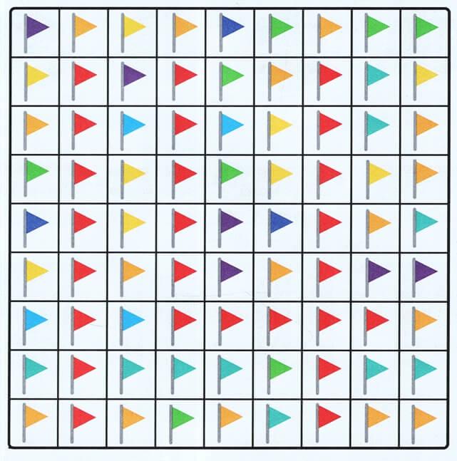Tập đếm có điều kiện với những lá cờ