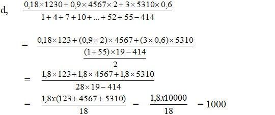 Tính giá trị của các biểu thức bằng cách thích hợp-2