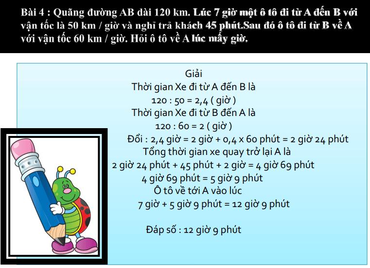 Một số bài toán tìm thời gian lớp 5 có đáp án